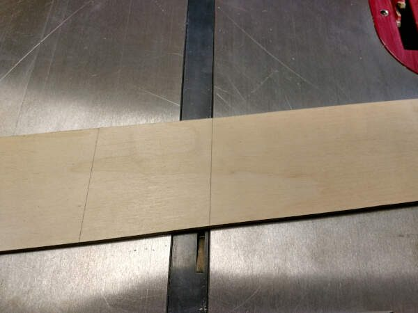 Lining mark up on miter slot to figure out the angle