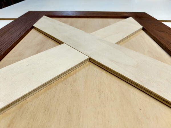Close up of cabinet door X addition