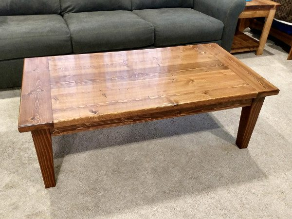 coffee table with breadboard ends