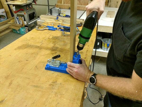 Using the Kreg K4 jig vertically