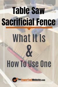 table saw sacrificial fence