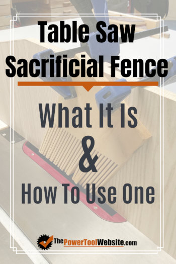 table saw sacrificial fence