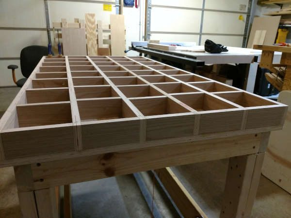 torsion box assembly table