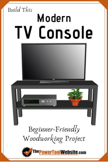 modern tv console