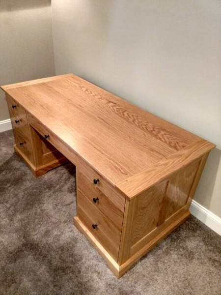 desk with a flat panel top