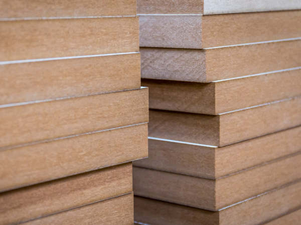 mdf wood stacked