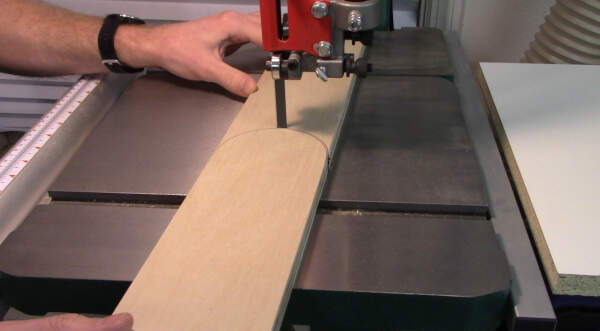 cut the throat plate curves with a band saw