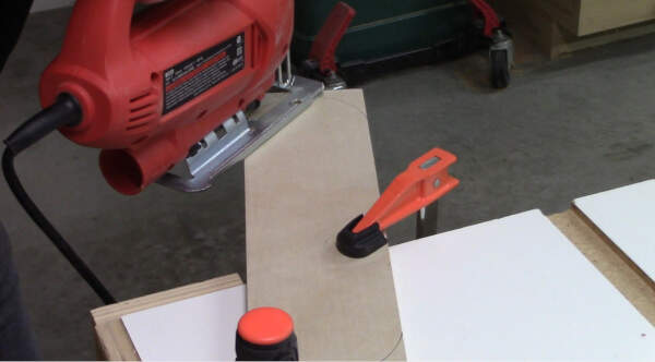 cut the throat plate curves with a jig saw