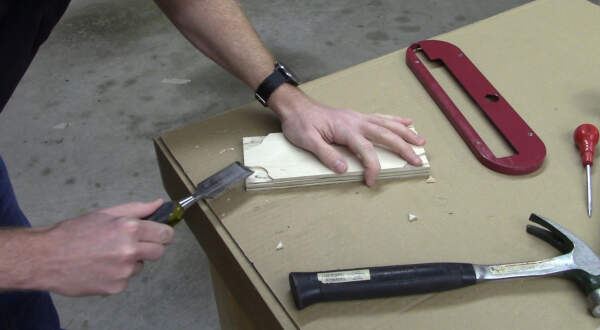 clean up the reliefs with a chisel