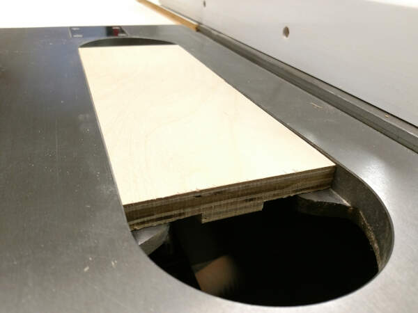 make sure the new thickness fits your table saw