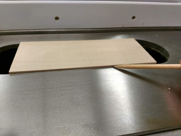 dry fit a scrap table saw insert