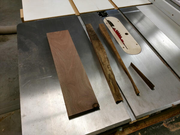 final board squared up using the table saw
