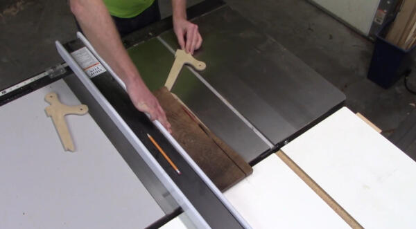 ripping to final width on table saw