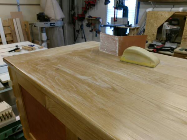 sanded polyurethane finish